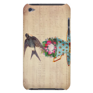 Vintage Bird, Roses, and Teacup Case-Mate iPod Touch Case