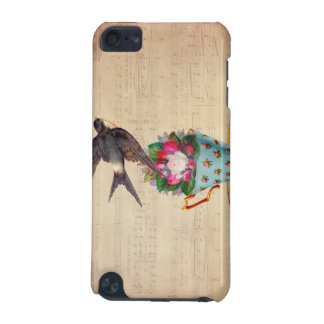 Vintage Bird, Roses, and Teacup iPod Touch 5G Covers