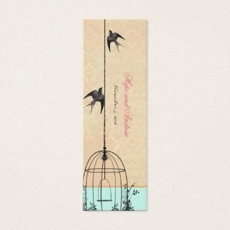 Vintage Bird Wedding Tags