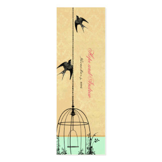 Vintage Bird Wedding Tags Business Card