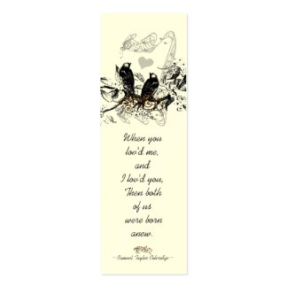 Vintage Bird Wedding Tags Business Cards