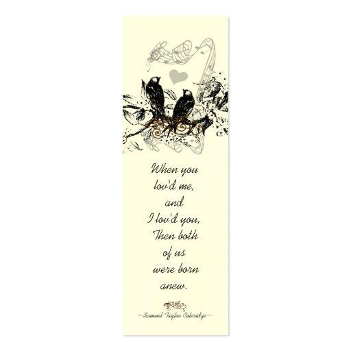 Vintage Bird Wedding Tags Business Cards