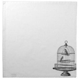 Vintage Birdcage with Birds napkin