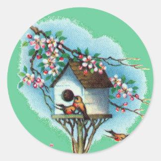 Vintage Birdhouse Stickers