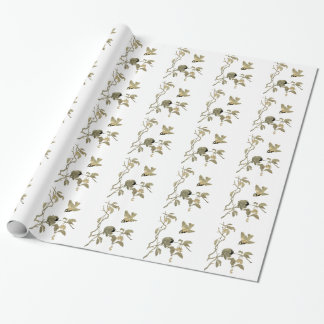 Vintage Birds and Branch Wrapping Paper
