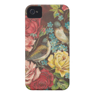 Vintage Birds and Flowers iPhone 4 Case