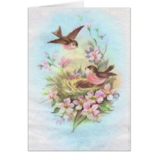 Vintage Birds Greeting Cards