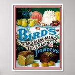 Vintage Birds Custard, Blanc-Mange Egg & Baking Po Print