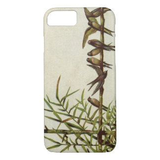 Vintage Birds on Bamboo iPhone 7 Case