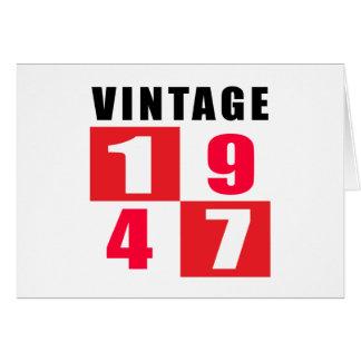 Vintage Birthday 1947 Card