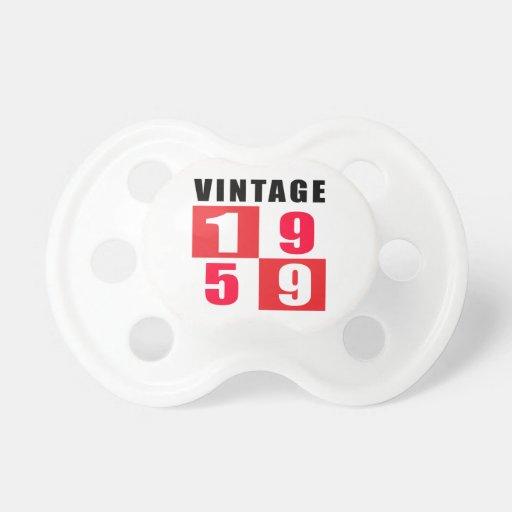 Vintage Birthday 1959 Pacifier