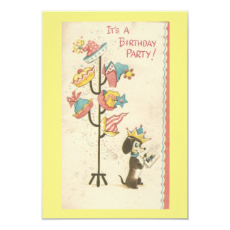 Vintage Birthday Dog Invitation
