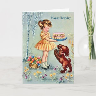 Vintage For Her Birthday Cards