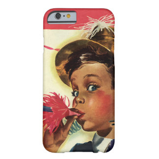 Vintage Birthday Party, Girl with Noise Maker Barely There iPhone 6 Case