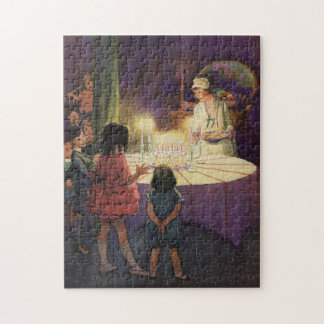 Vintage Birthday Party Jigsaw Puzzle