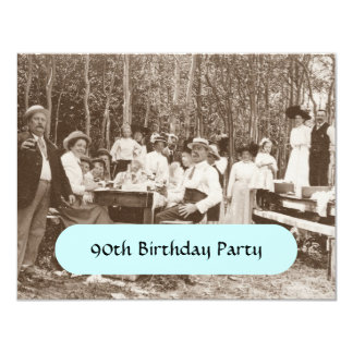 Vintage Birthday Party Sepia Outdoor Invitations