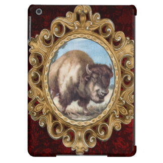 Vintage Bison Illustration - Nature Animal iPad Air Cover