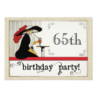 Vintage Bistro Custom Womans Birthday Personalized 13 Cm X 18 Cm Invitation Card
