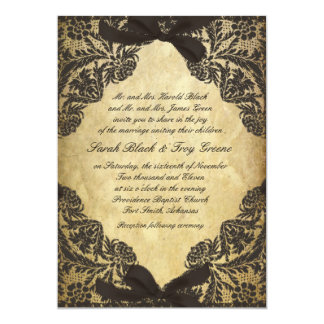 Vintage Black and Cream Lace Card