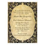 Vintage Black and Cream Wedding Custom Announcements