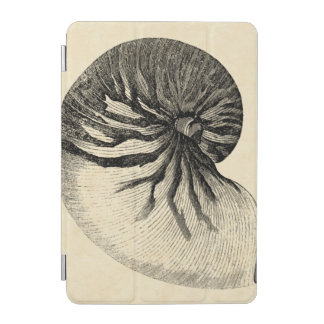 Vintage Black and White Conch Shell iPad Mini Cover