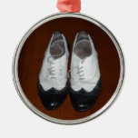 Vintage Black And White Dance Shoes Christmas Ornament