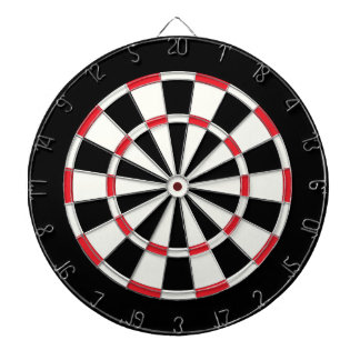 Vintage Black And White Dartboard