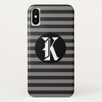 Vintage Black And White Striped iPhone X Case