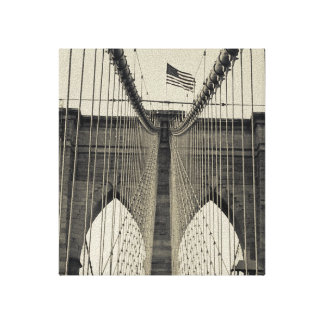 Vintage, black and white, taken in Brooklyn Canvas Print