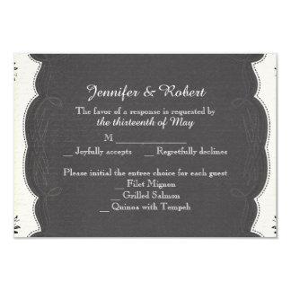 Vintage Black and White Wedding Response Card 9 Cm X 13 Cm Invitation Card