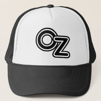 Vintage Black and White Wizard of Oz Fairy Tale Trucker Hat