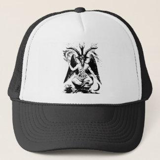Vintage Black Baphomet Trucker Hat