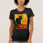 Vintage Black Cat Art Nouveau Chat Noir Steinlen T-Shirt