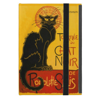 Vintage Black Cat Art Nouveau Paris Cute Chat Noir Cover For iPad Mini