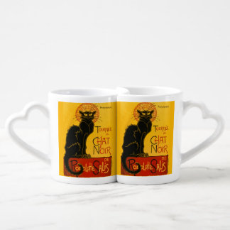 Vintage Black Cat Art Nouveau Paris Cute Chat Noir Lovers Mug