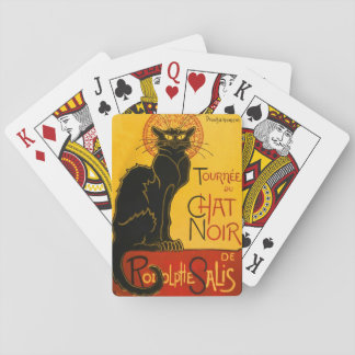 Vintage Black Cat Art Nouveau Paris Cute Chat Noir Playing Cards