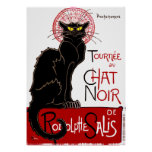 Vintage Black Cat Le Chat Noir Poster
