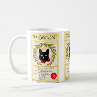 Vintage Black Cat Magazine December 1895 Coffee Mug