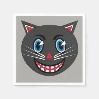 Vintage Black Cat Napkins Bold Disposable Serviettes