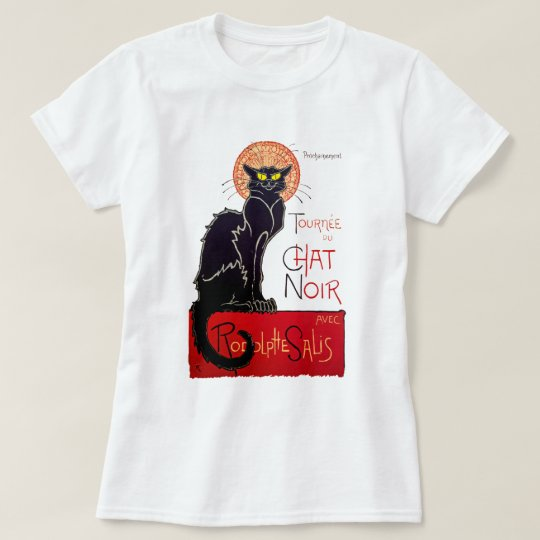 Vintage Black Cat Tournee Du Chat Noir Poster Art T-Shirt