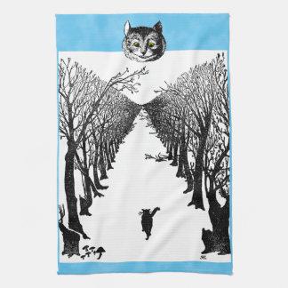 Vintage Black Cats Art Tea Towel