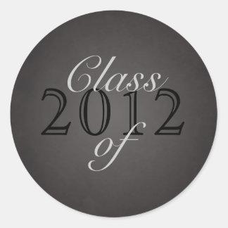 Vintage Black Class of Silver Graduation Sticker