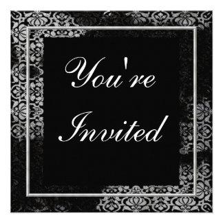 Vintage Black Damask Multi Purpose Invitation