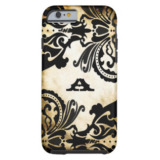 Vintage Black Damask Personalized iPhone Tough iPhone 6 Case