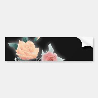 vintage black floral botanical wedding bumper sticker