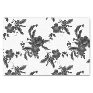 Vintage Black Floral Pattern Tissue Paper