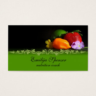 Vintage Black & Green Healthy Life/Nutrition Card