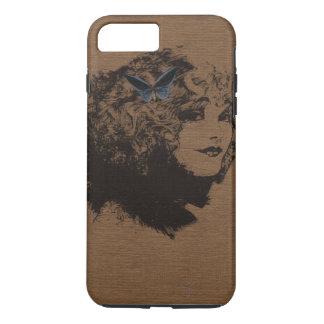 Vintage Black Outline Woman iPhone 7 Plus Case