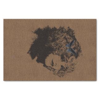 Vintage Black Outline Woman Tissue Paper