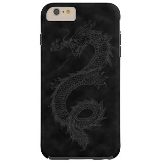 Vintage Black Smoke Dragon Tough iPhone 6 Plus Case